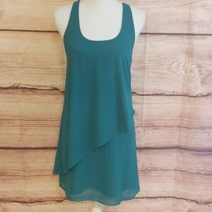 Naked Zebra green slip dress